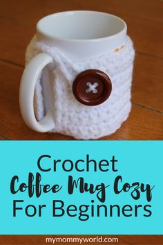 This easy crochet coffee cozy tutorial will help you make a cute cozy for your favorite coffee mug in just minutes, even if you are a beginner! You'll just need to know a few crochet stitches to make this free crochet coffee cozy pattern so that you can keep your coffee mug warm during the cold winter months.