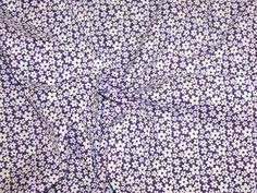 Mini Daisy Flower Print Polycotton Dress Fabric | Fabric | Dress Fabrics | Minerva Crafts