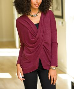Another great find on #zulily! Rosette Sudit V-Neck Top - Women & Plus by Monroe & Main #zulilyfinds