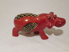 #10--Large size-Hippo African Masks, African Art, Animal Key Rings, Soapstone Carving, Beaded Animals, African Animals, Wire Art, Stone Art, Animal Paintings