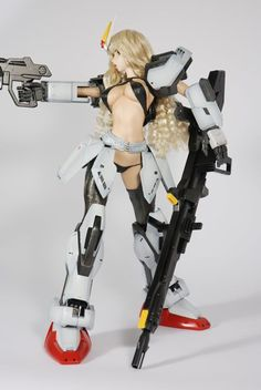 Killer deal Junggi Kim, Character Concept, Character Design, Strike Gundam, Frame Arms Girl, Robot Girl, 3d Figures, Anime Figurines, Female Fighter