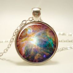 Galaxy Necklace Heavenly Nebula Pendant Stars And by rainnua, $14.45