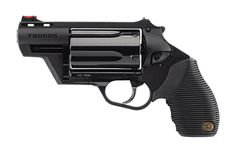 """The """"Judge,"""" often carried by the judge himself.  Known for it's quality of a revolver pistol with the ability to shoot .410 shotshells and .45 Colt cartridges.  :D"""