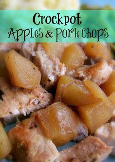 Crockpot Apples and Porkchops Recipe; Fall -- sub butter for coconut oil and maybe use agave instead of brown sugar = paleo friendly