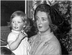 Diana Spencer with her mother Frances.