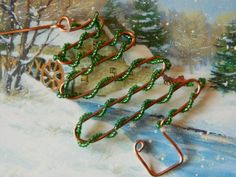 RECYCLED copper wire CHRISTMAS tree