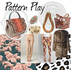 PatternPlay http://blog.styleshack.com/monday-mood-board-pattern-play/ #styleinspiration #collage #MoodBoard