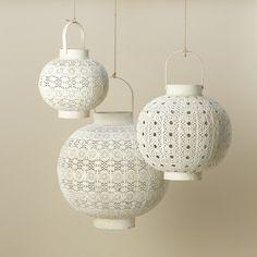 Terrain White Filigree Lantern #shopterrain