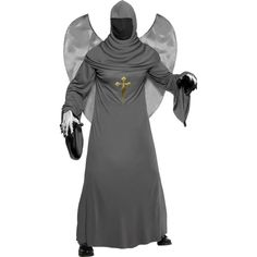"""Angel Of Death Costume, Includes - Robe, Hood & Wings -   Available in Med 38""""-40"""" Chest  - £ 29.99"""