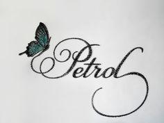 Handmade typography [nails & thread] for handmade jewelry & accessories company Petrol