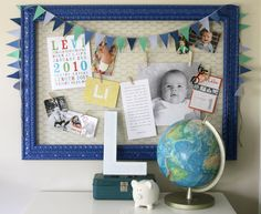 I love this frame idea. It takes chicken wire fencing and applies it to a frame. I love how it's easy to personalize and change out/ update.