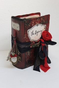 Moulin Rouge Hand bound Photo Album Fleur De by LotusBluBookArt, £125.00
