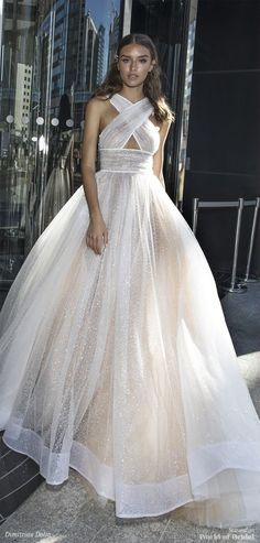 [Obviously we wouldn't do the bodice like that, but what do you think of the sparkly fabric?]  Dimitrius Dalia 2018 Wedding Dress