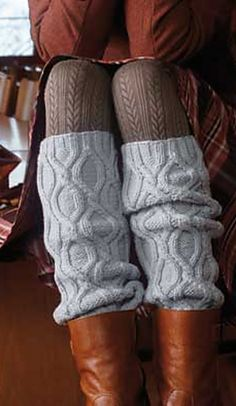 Warm and cozy!  Ravelry: S8230 Leg Warmers pattern by Schachenmayr