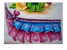 Barrado Falso Azul e Rosa  termolina  leitosa e stencil