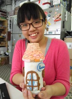 Renna's recycling bottle with polymer clay http://gariesim.blogspot.sg/2014/04/all-creative-learning-for-children.html