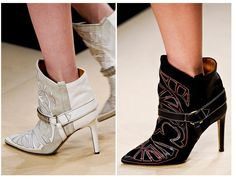 I knew I could count on Sea of Shoes for closeups of the new Fall 2012 Isabel Marant booties from the runway!