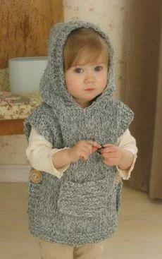 Baby Knitting Patterns, Crochet Poncho Patterns, Knitting For Kids, Knitting Blogs, Crochet Shawl, Loom Knitting, Free Knitting, Crochet Vests, Beginner Knitting