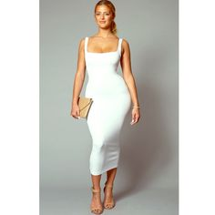 White Ultra Midi Dress Brand New, Never worn! Price is negotiable Fly Nation Boutique Dresses Midi