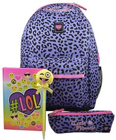 Cutie Patootie Girls Animal Print 16 Backpack W Pen Case Emoji KitPurpleLeo ** You can get additional details at the image link.