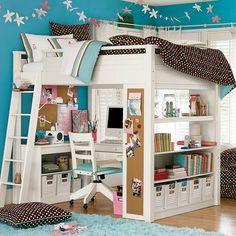 More loft bed ideas. Looks like a mod on an Ana White design.