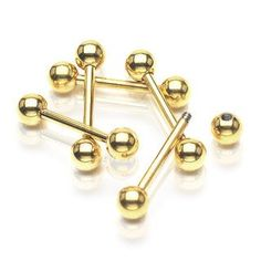 Gold Industrial Piercing Barbell 14ga Surgical Steel Body Jewelry Piercing Jewelry Upper Ear 316L Surgical Steel