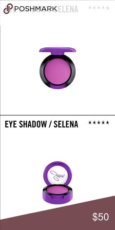 LIMITED EDITION MAC Selena eyeshadow in Selena LIMITED EDITION MAC Selena eye shadow in Selena color (gorgeous purple). Purchased from Macy's online. Estimated arrival date is 10/14 and will ship immediately after. Please keep negative comments to yourself, kthanks! Happy to work out a custom bundle if you want multiple Selena items. MAC Cosmetics Makeup Eyeshadow