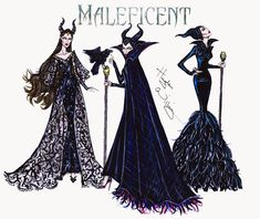 #Hayden Williams Fashion Illustrations #Maleficent collection by Hayden Williams