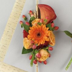 Corsage idea - without the center Gerbera daisy.