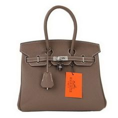 Hermes Birkin 25cm Etoupe Togo Leather with Silver Hardware Hermes Birkin,  Birkin 25, Replica d3feb54c97e
