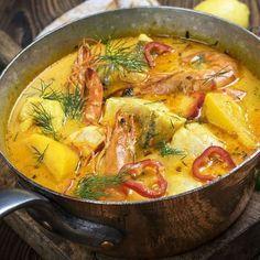 Moqueca de peixe (ragoût de poissons brésilien)