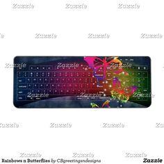 Rainbows n Butterflies Wireless Keyboard