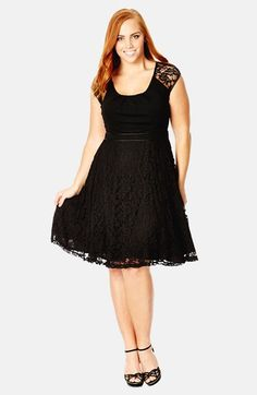City Chic Lace Swing Dress (Plus Size) available at #Nordstrom