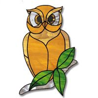 free owl stain glass pattern