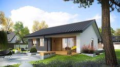 Mini 3 energo - zdjęcie 1 Little House Plans, Dream House Plans, Small House Plans, Bungalow House Design, Small House Design, Modern House Design, Modern Barn House, Modern House Plans, House Construction Plan