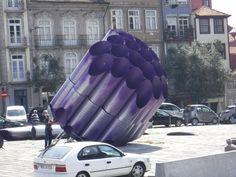 Porto, Portugal.  Artist installation drop.