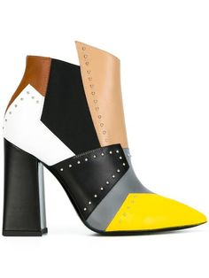 2cdd3cecfa8e Pollini Colour Block Boots - Farfetch