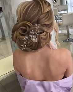 """Amazing😍😍😍 - """" The Effective Pictures We Offer You About design trends A quality picture can tell you many th - Hair Up Styles, Long Hair Wedding Styles, Elegant Wedding Hair, Wedding Hairstyles For Long Hair, Up Hairstyles, Braided Hairstyles, Flower Hairstyles, Hair Style Vedio, Bridal Hair Tutorial"""