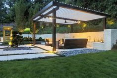 Equinox Louvered roof system patio cover modern and contemporary.