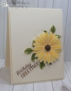 Stampin' Up! Daisy Delight Sunflower Birthday Card – Stamp With Amy K Stampin' Up! Daisy Delight Sunflower Birthday Card – Stamp With Amy K The post Stampin' Up! Daisy Delight Sunflower Birthday Card – Stamp With Amy K appeared first on Birthday. Old Birthday Cards, Birthday Cards For Women, Handmade Birthday Cards, Daisy Delight Stampin' Up, Sunflower Cards, Some Cards, Happy Birthday, Birthday Kids, Fall Cards