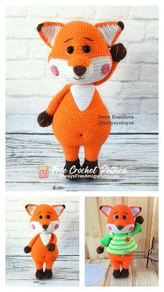 Free Crochet, Crochet Hats, Step By Step Crochet, Cute Fox, Learn To Crochet, Crochet Animals, Free Pattern, Crochet Patterns, Homemade