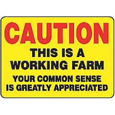 Caution Sign, 10 x 14In, R and BK/YEL, ENG