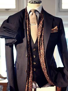 Tailored Navy Blue 3 Piece Suit | TheVarsityLife |