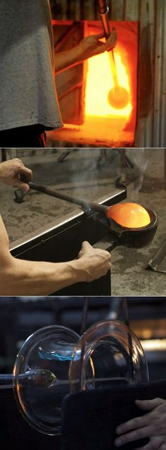 One day, glass blowing....