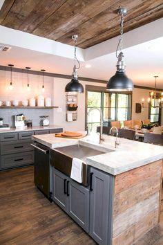 22 Best Modern Farmhouse Kitchen Cabinets Ideas