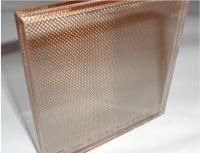 copper mesh laminated glass - friend using this and it looks amazing with a mirror behind it as a glass splash back.