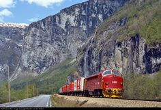 NSB Nohab (NSB Class) at Flatmark, Norway by Maarten van der Velden Locomotive, Norway, Beauty, Paths