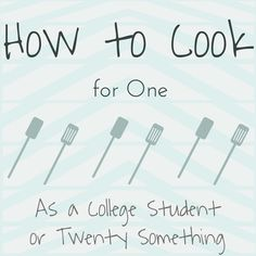 How to cook for one