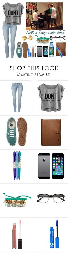 """""""Writing Songs with Niall"""" by elise-22 ❤ liked on Polyvore featuring Calvin Klein Jeans, Vans, Coach, Vera Bradley, claire's, Rebecca Minkoff, Revlon, NYX and NiallHoran"""