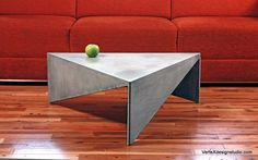 Concrete Triangle Coffee Table by VerteXdesignstudio on Etsy